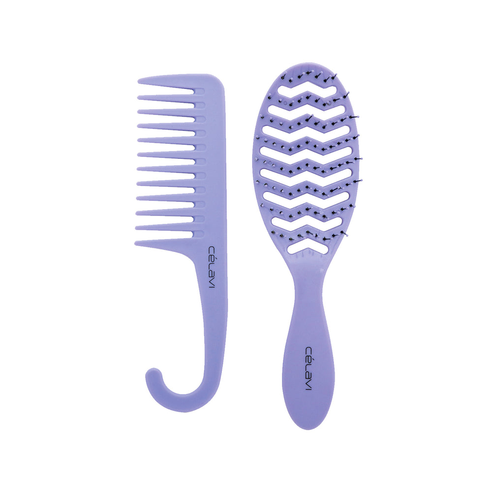 Load image into Gallery viewer, Celavi Vent Brush & Detangling Comb