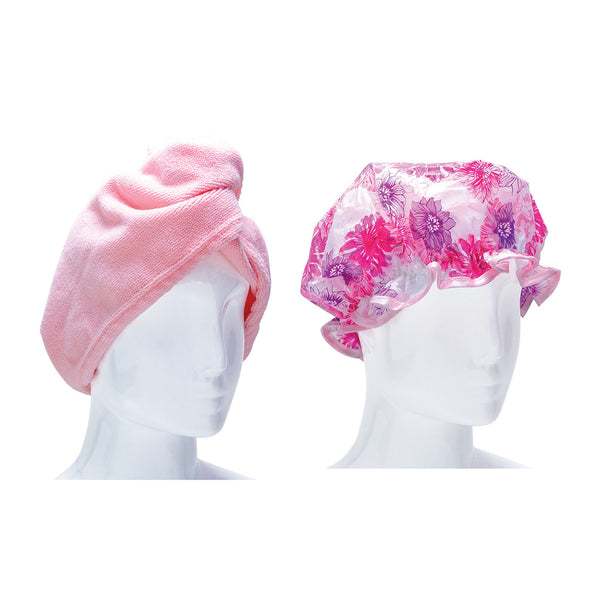 Celavi Beauty Bath Set / Turban & Shower Cap