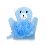 Celavi 2PC Animal Shaped Exfoliating Gloves & Bath Sponge Set