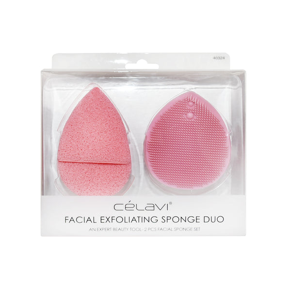 Celavi Facial Exfoliating Sponge Duo