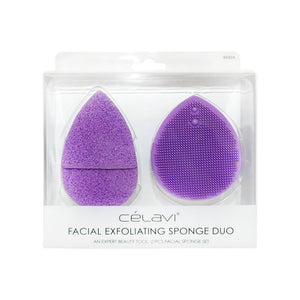 Load image into Gallery viewer, Celavi Facial Exfoliating Sponge Duo
