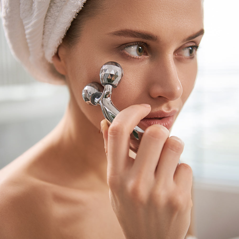 Celavi Small Chrome Face Massager
