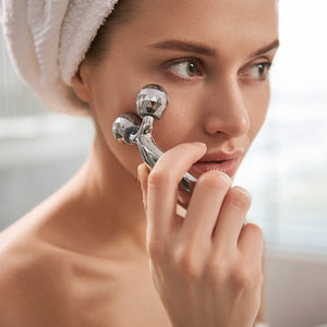 Load image into Gallery viewer, Celavi Small Chrome Face Massager