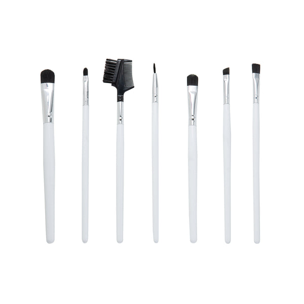 Celavi 7PC White Eye Makeup Brush Set