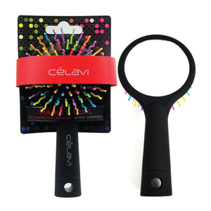 Load image into Gallery viewer, Celavi S Curl Rainbow Detangling Brush with Mirror