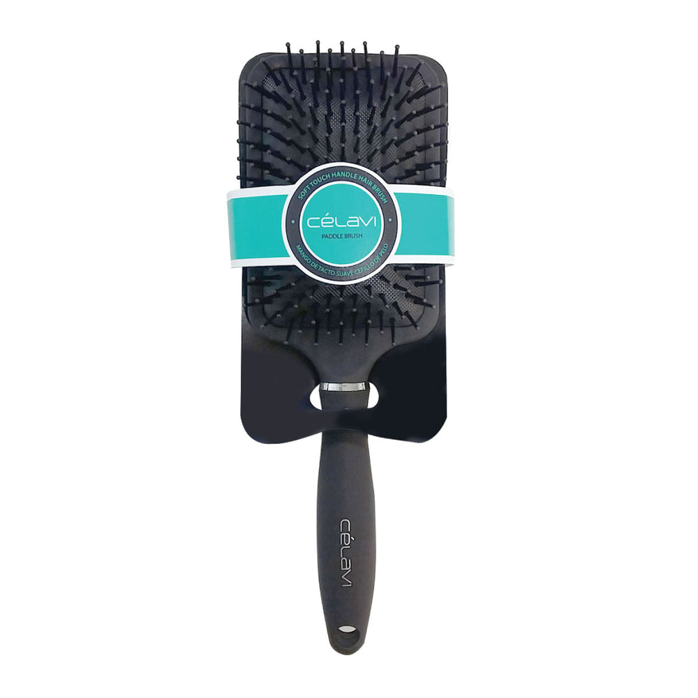 Celavi Smooth Handle Paddle Cushion Brush
