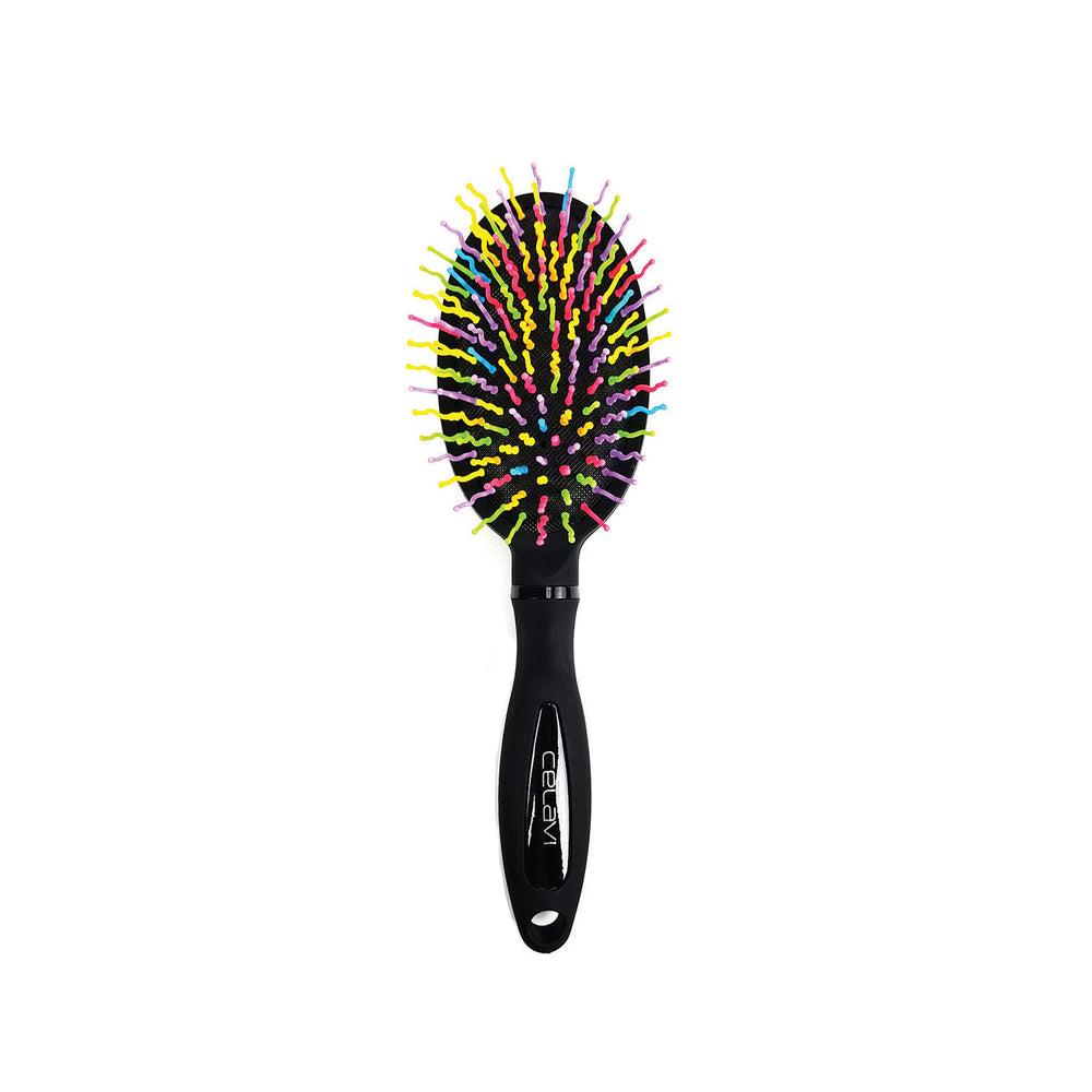 Celavi S Curl Rainbow Detangling Oval Brush