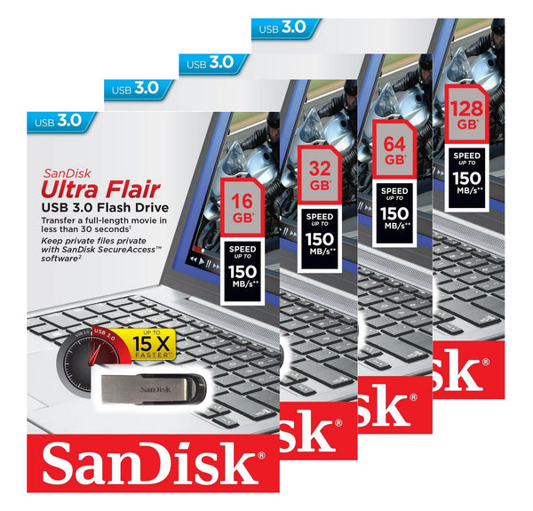 Sandisk USB Ultra Flair 3.0 Flash Drive