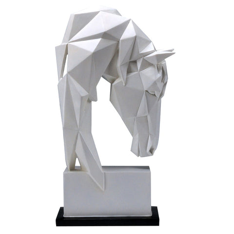 Statue Cheval <br/> Tête d'origami