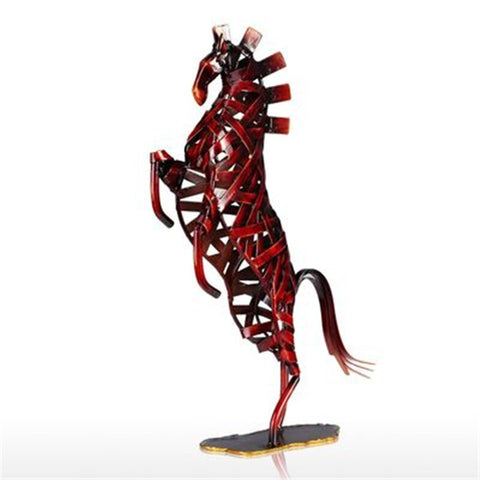 Statue Cheval Rouge