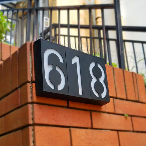 LED Solar Number Sign
