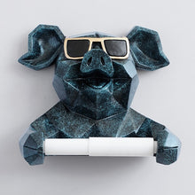 Load image into Gallery viewer, Animal Head Figurine Tissue Holder