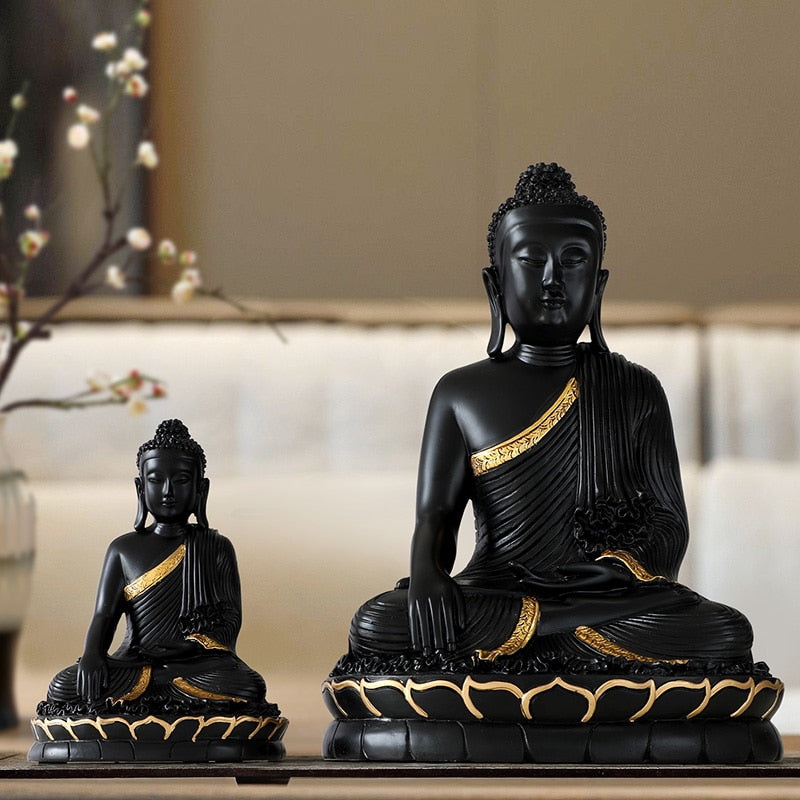 Statue Buddha Large Buddha Decor Home Buddha Statue Home Decoration  Accessories for Living Room Buddha Figurine