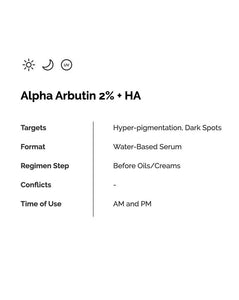Alpha Arbutin 2% + HA