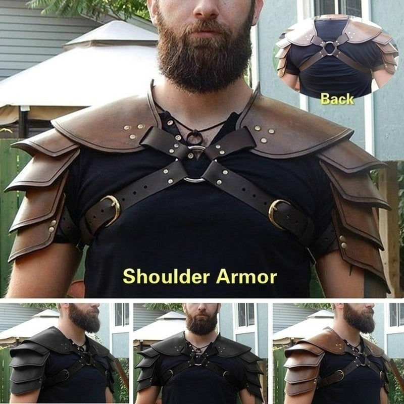 Vintage Adjustable Buckle Straps Body Leather Armour Cosplay Party Costume Retro