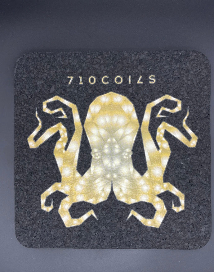 Yellow square Octopus mood mats