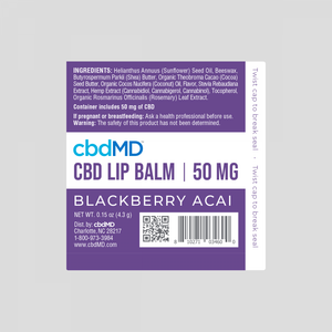 CBD Lip Balm 3 PACK - 150 MG