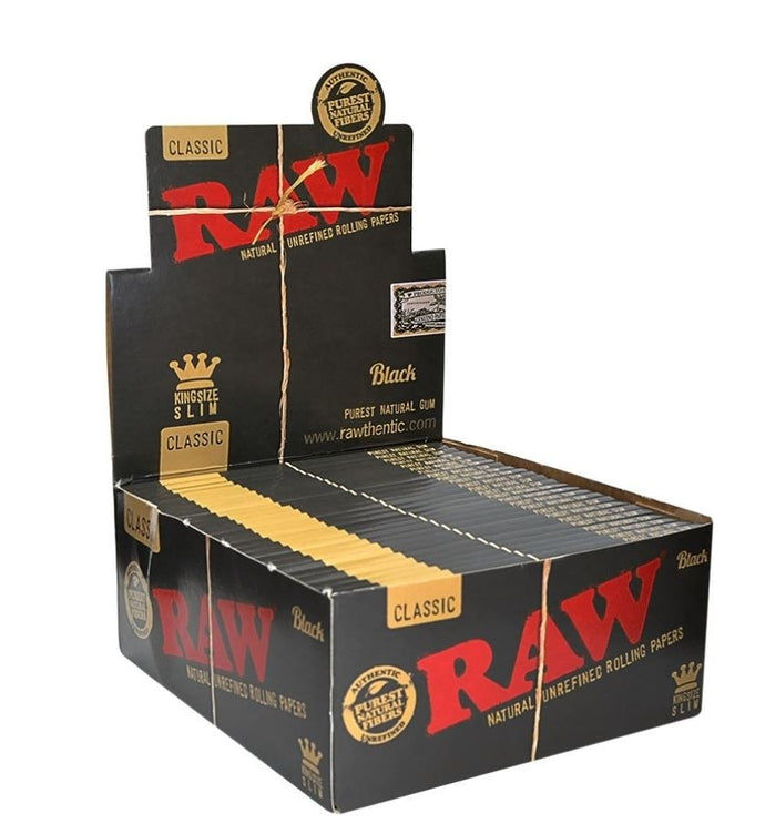 RAW Black Classic King Size Slims - Rolling Papers