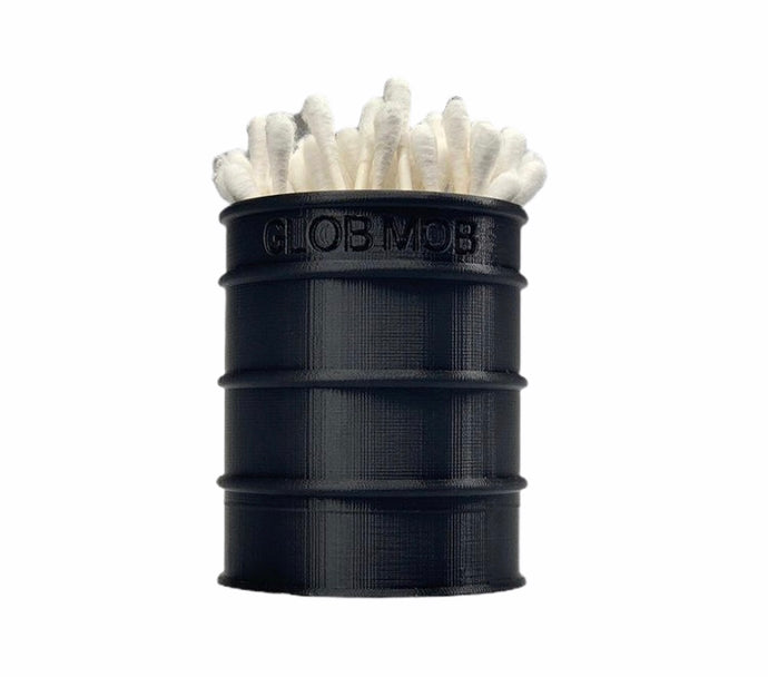 GlobMobUSA 3D Printed Oil Drum Q-Tip Holder