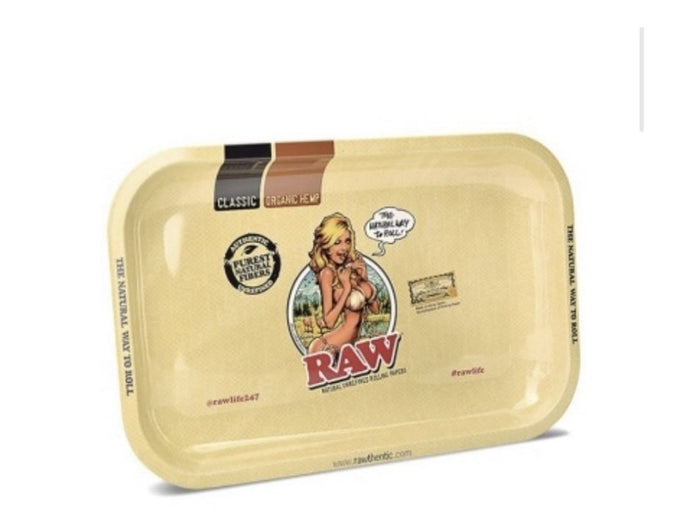 RAW Bikini Girl Mini Metal Rolling Tray