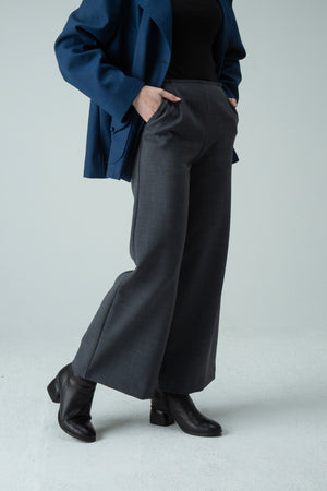 Charcoal Wide Leg Trousers. Free returns worldwide and Free express shipping Australia wide.