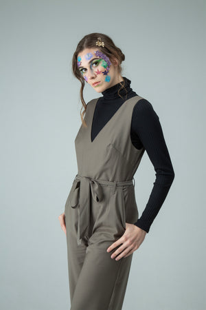Deep V-neck Jumpsuit. Free returns worldwide and Free express shipping Australia wide.