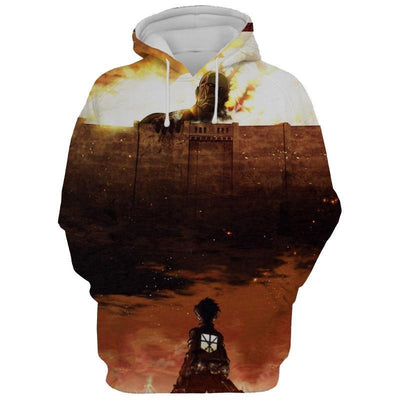 Attack On Hoodie Manga Cover First Edition - Attack On Titan 3D Hoodie