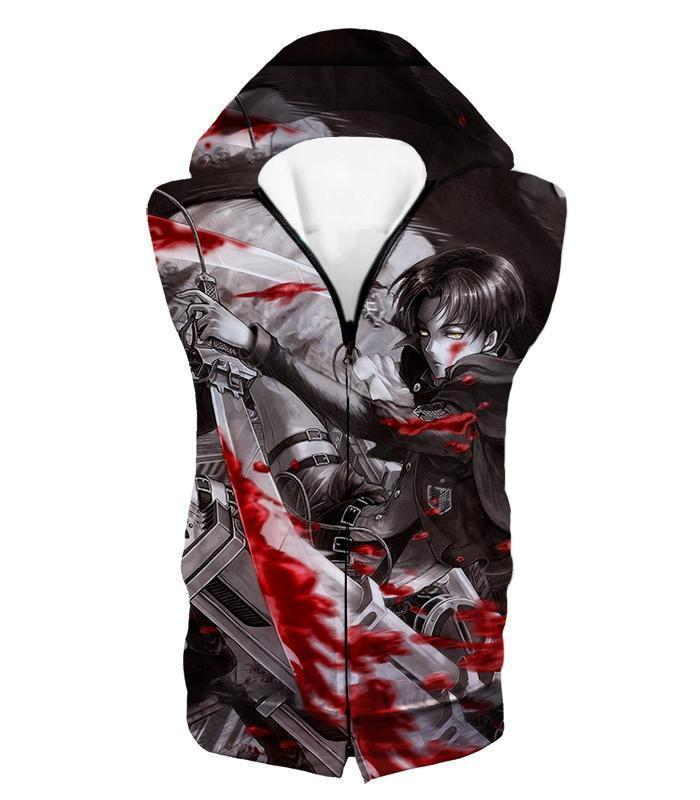 Attack on Titan Captain Levi Black and white Themed Hoodie