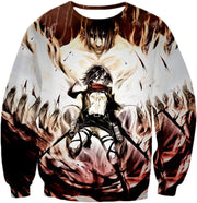 Attack On Titan Hoodie - Attack on Titan Amazing Titan Fighter Mikasa Ackerman Cool Anime Graphic\ Hoodie