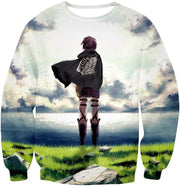 Attack On Titan Hoodie - Attack on Titan Super Cool Survey Corp Soldier Awesome Anime Promo Graphic Hoodie