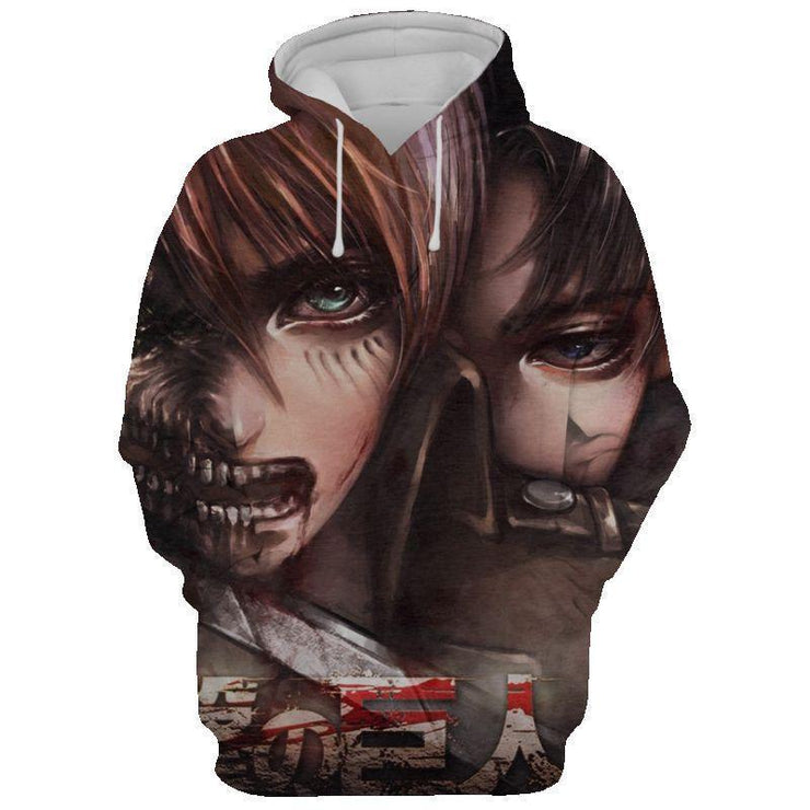 Attack On Titan Manga Canvas Hoodie- Attack On Titan 3D Hoodie