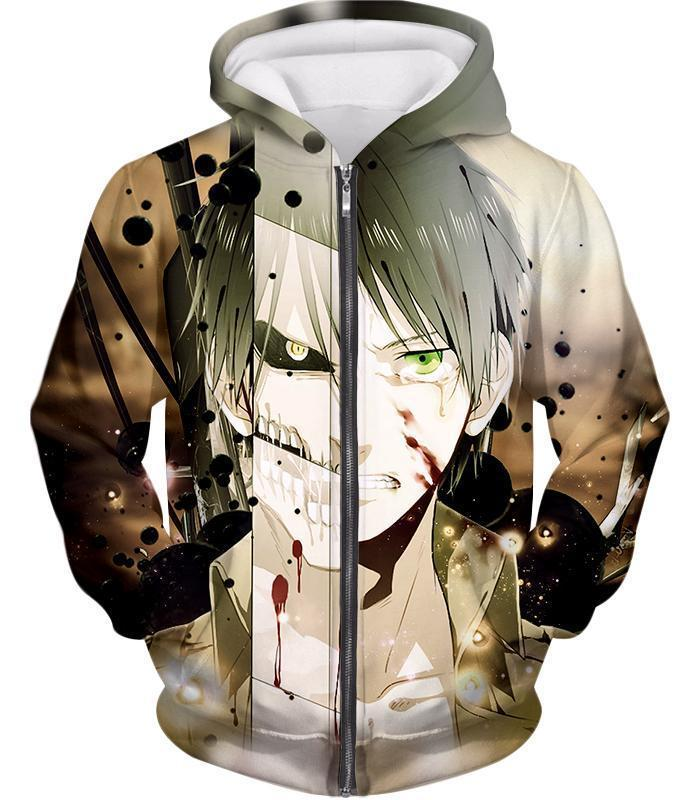 Attack on Titan The Titan Human Eren Yeager Hoodie  - Anime Hoodie