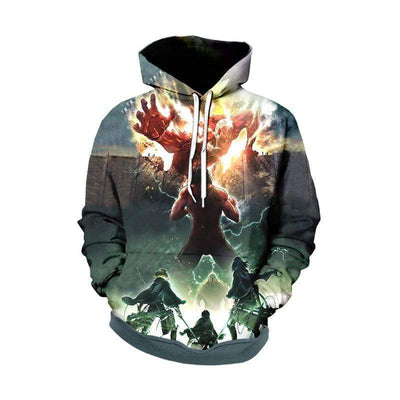 Eren Yeager Defends Wall Maria Hoodie - Attack On Titan 3D Graphic Hoodie