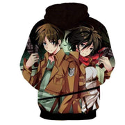 Levi Ackerman & Mikasa Ackermann Together Hoodie- Attack On Titan 3D Graphic Hoodie