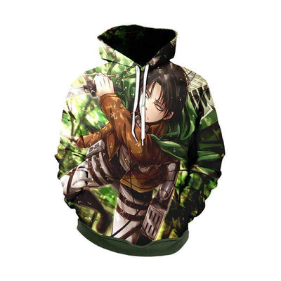 Levi Targets Female Titan Forest Hoodie - Attack On Titan Hoodie