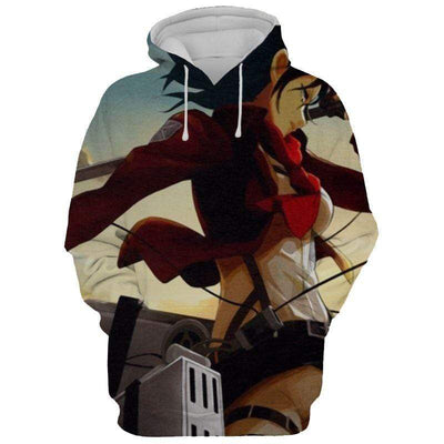 Mikasa Ackerman Manga Version  Hoodie - Attack On Titan 3D Graphic  Hoodie