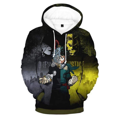 My Hero Academia Hoodie - My Hero All Might Deku Academia 3D Graphic Hoodie
