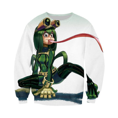 My Hero Academia Sweatshirt - Tsuyu Flicking Tongue Sweatshirt