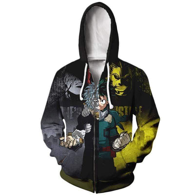 My Hero Academia Zip Up Hoodies - Heros and Pro Heros Hoodie Jacket