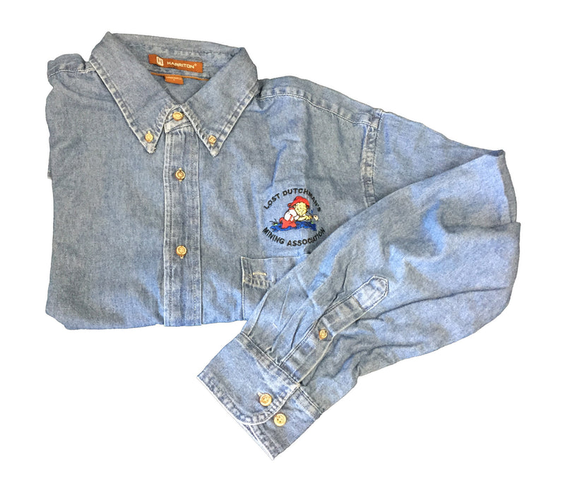 LDMA Long Sleeve Denim Shirt - Gold Prospectors Association of America