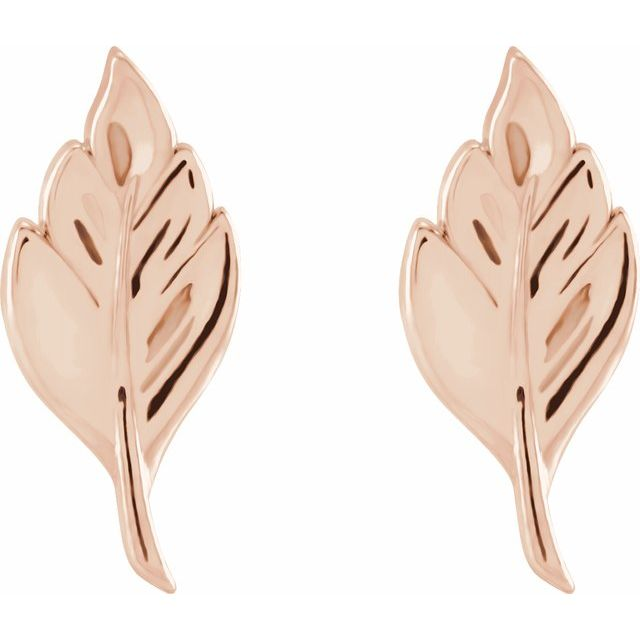 Stud Leaf Earrings - Evergreen Jewelry