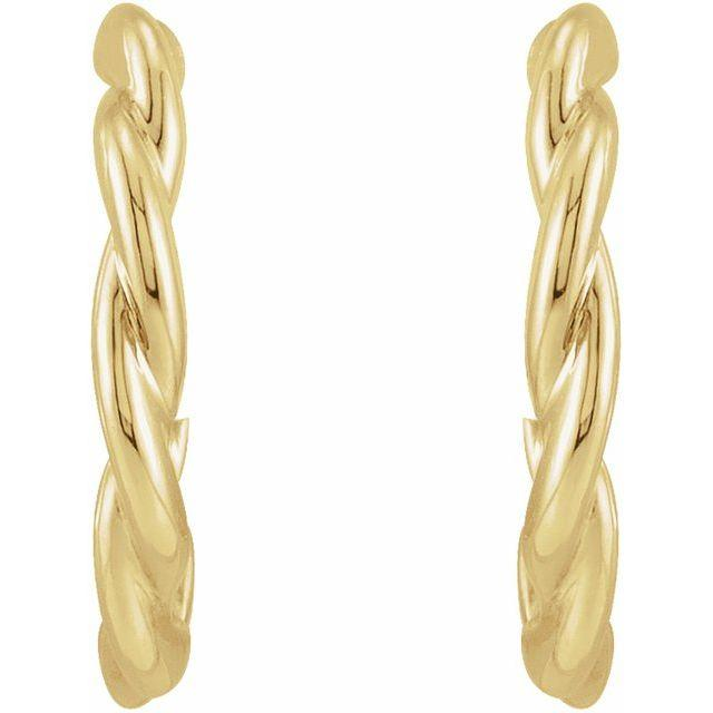 Twisted Hoop Earrings - Evergreen Jewelry