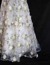 Load image into Gallery viewer, Lime Flowery Organza Ensemble