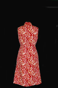 Red Coral Batic Print Tunic