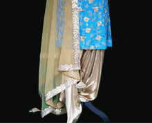 Load image into Gallery viewer, Blue Patiala Suit