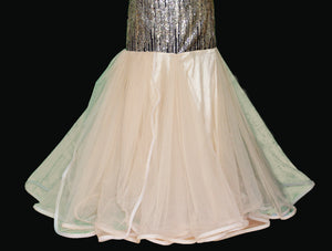 New Sparkling Sequined Evening Mermaid Style Gown