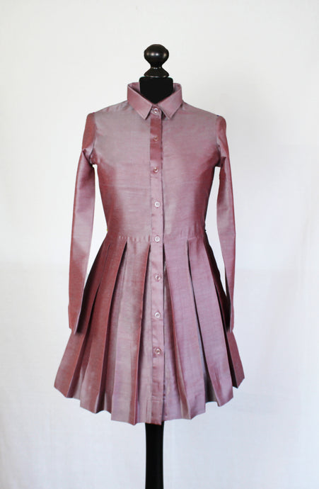 Mauve Box Pleated Tunic