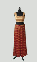 Load image into Gallery viewer, Palazzo Pants in Georgette with Charming Brocade Top Set
