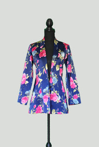 Blazer Split Sleeve Style with floral prints