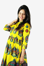 Load image into Gallery viewer, Yellow tunic with authentic prints